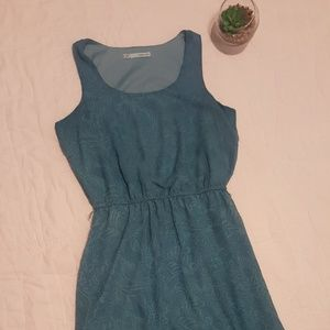 Maurices teal color high/low sleeveless dress
